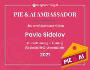 PIE&AI Ambassador Certificate